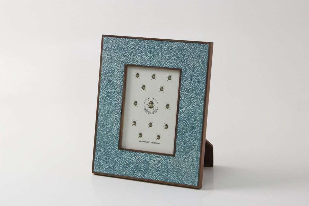 Classic Photo Frame in Teal Shagreen by Forwood Design 5