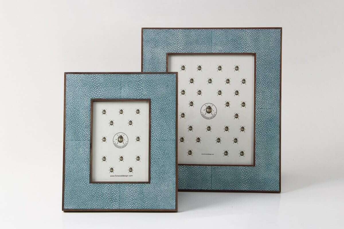 Classic Photo Frame in Teal Shagreen by Forwood Design 4