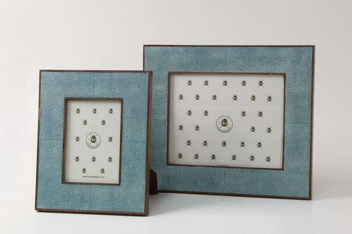 Classic Photo Frame in Teal Shagreen by Forwood Design 1