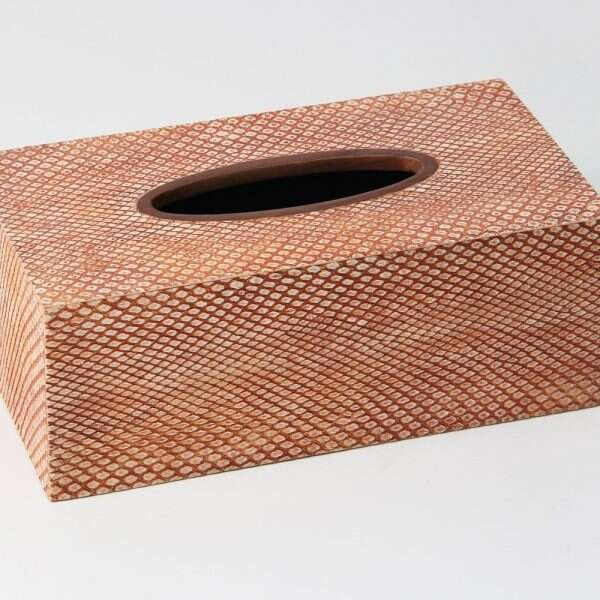 Tissue Box in Coral Boa Snakeskin by Forwood Design 5