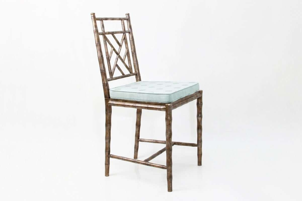 Cora Dinning Chair in Antique Silver by Forwood Design 3