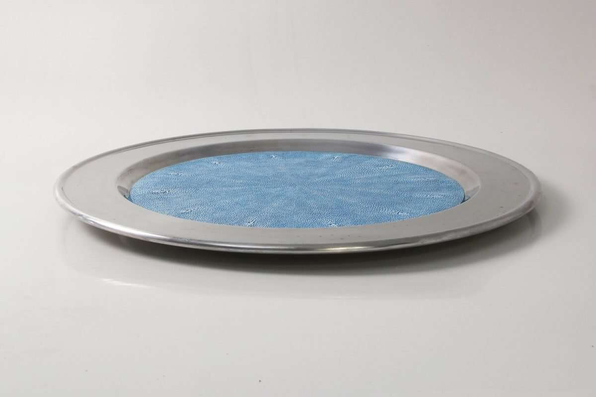 Duchess Serving Tray in Bahama Blue 5