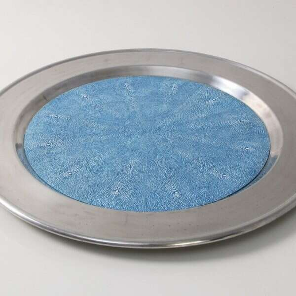 Duchess Serving Tray in Bahama Blue 3