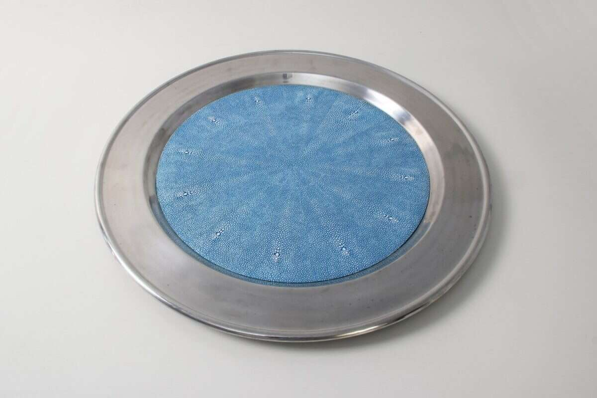 Duchess Serving Tray in Bahama Blue 2