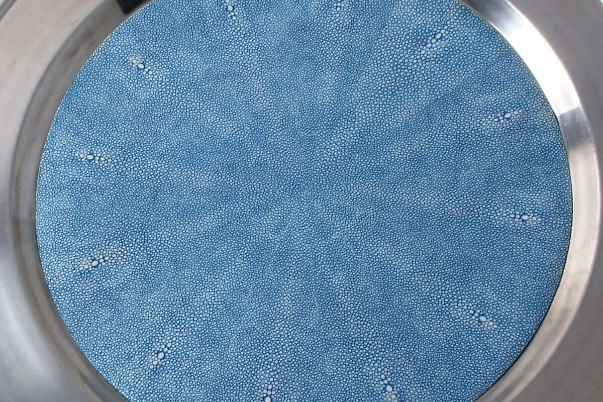 Duchess Serving Tray in Bahama Blue 1