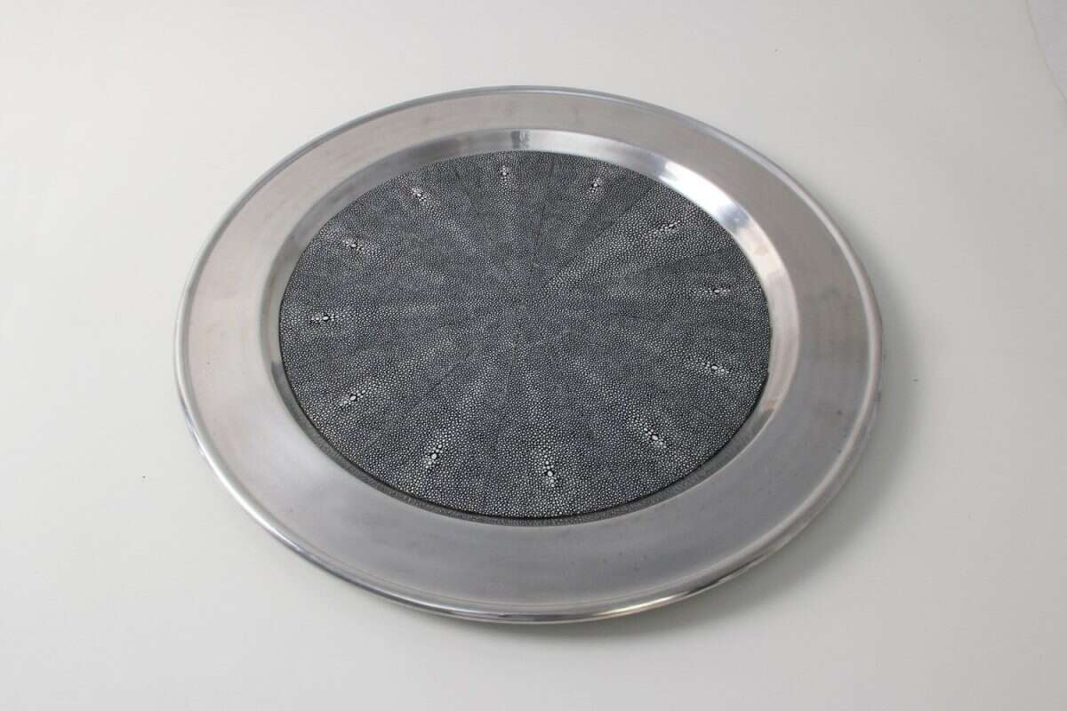 Duchess Serving Tray in Charcoal 3