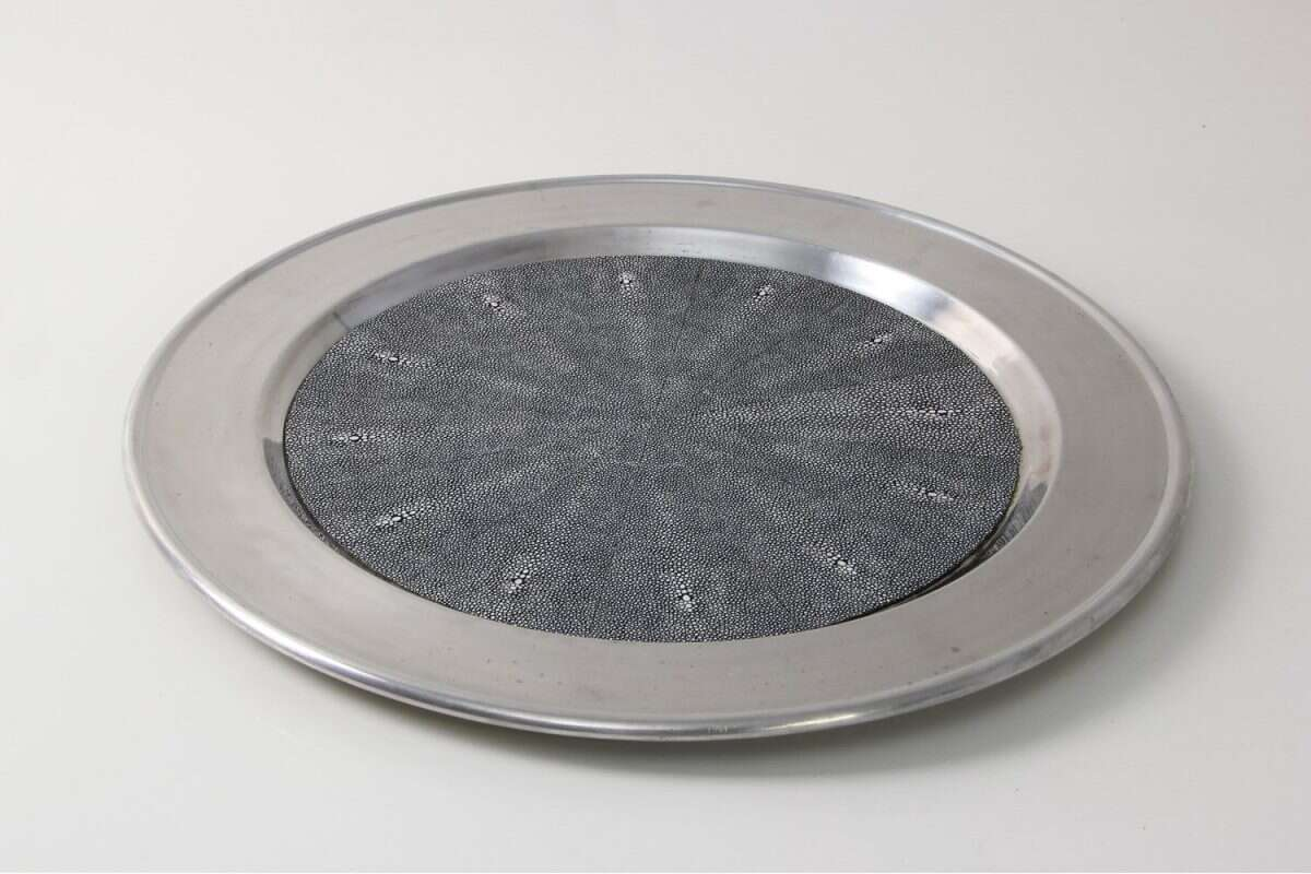 Duchess Serving Tray in Charcoal 2
