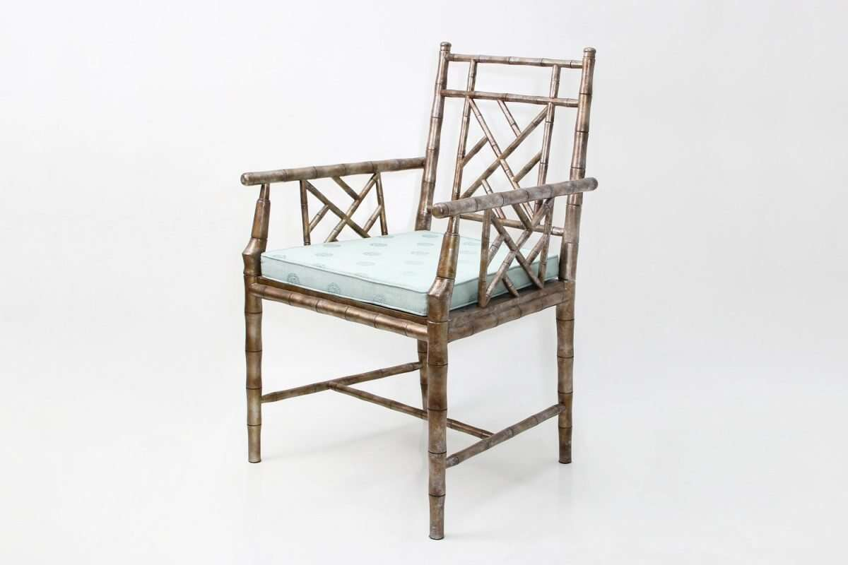 Cora Dining Chair in antique silver 4
