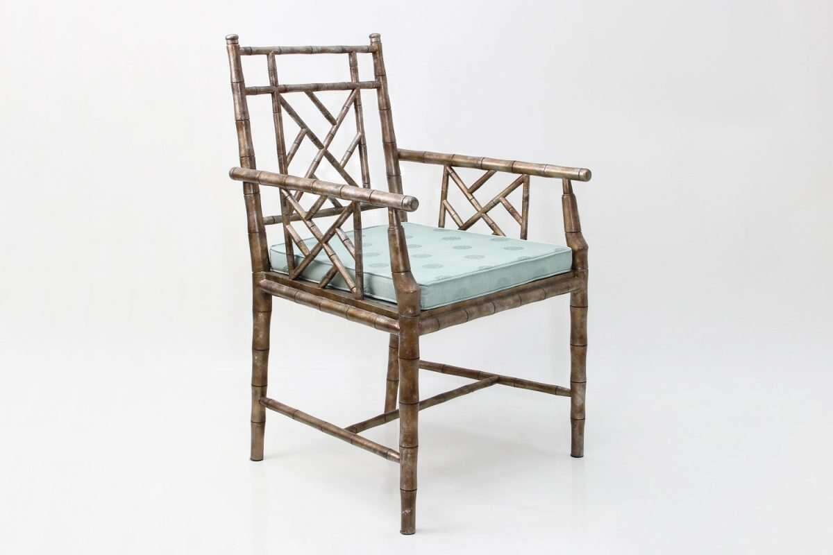 Cora Dining Chair in antique silver 3