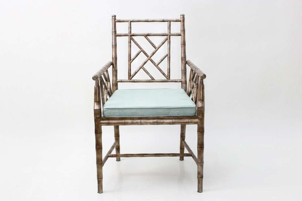 Cora Dining Chair in antique silver 2