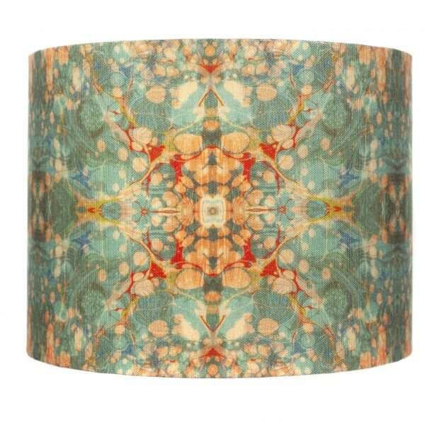 Fantasy Tapestry Kaleidoscope Linen Lampshades by Susi Bellamy for Forwood Design 1