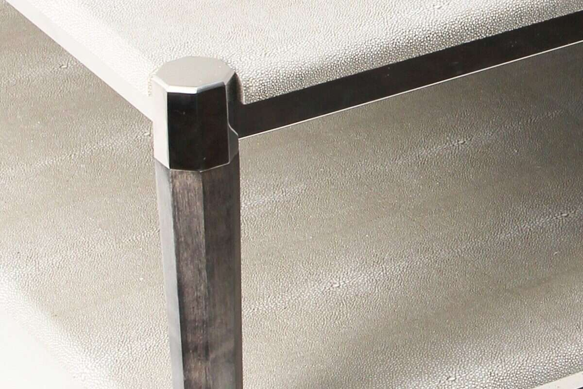 Fitz Coffee Table in Barley Shagreen by Forwood Design 1