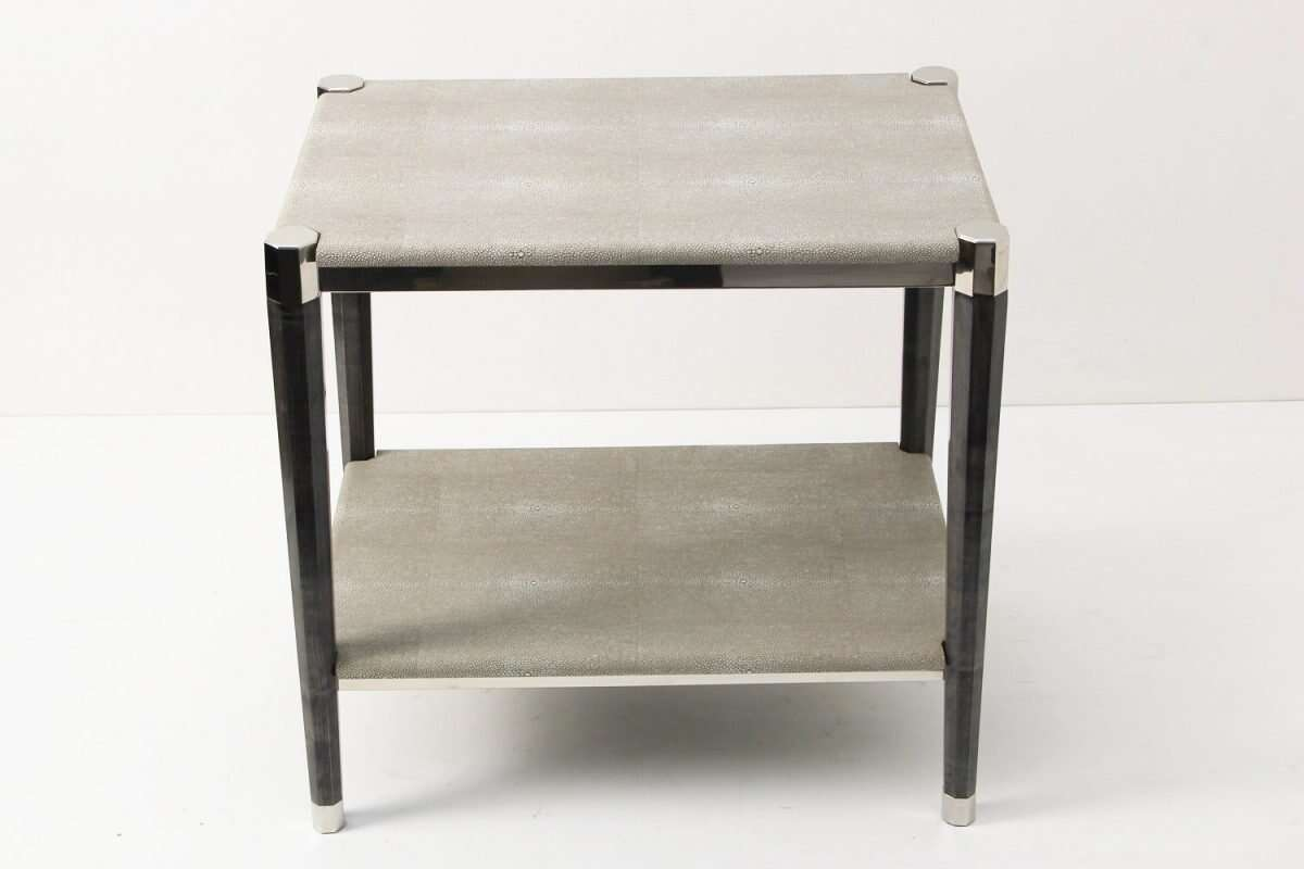 Fitz Side Table in Barley Shagreen by Forwood Design 5