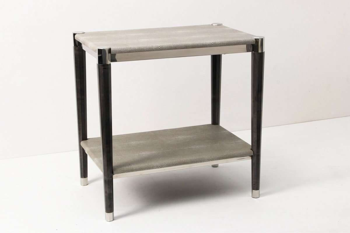 Fitz Side Table in Barley Shagreen by Forwood Design 4