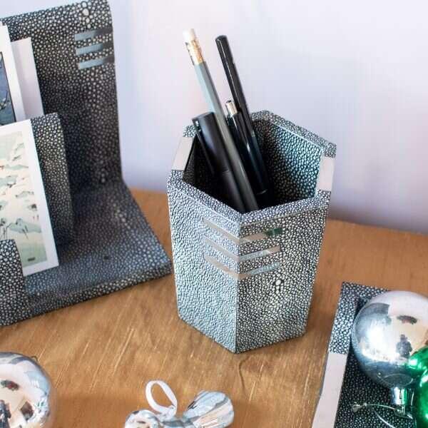 Shagreen Pen Pot