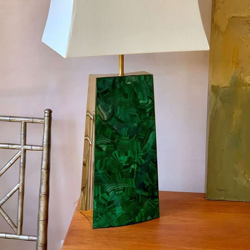 Gabby Malachite Table Lamp by Forwood Design 1
