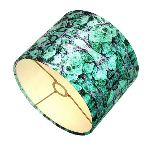 Green Lava Velvet Lampshades by Susi Bellamy