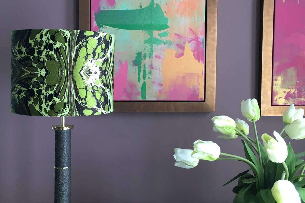 Green Fantasy Velvet Lampshades by Susi Bellamy for Forwood Design 3