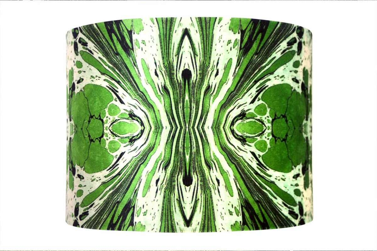 Green Fantasy Velvet Lampshades by Susi Bellamy for Forwood Design 1
