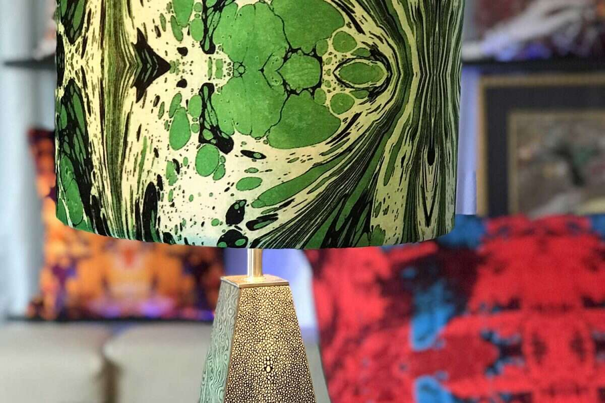 Green Fantasy Velvet Lampshades by Susi Bellamy for Forwood Design 2