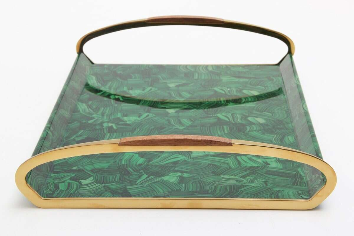 Jules Drinks Tray in Malachite by Forwood Design 2