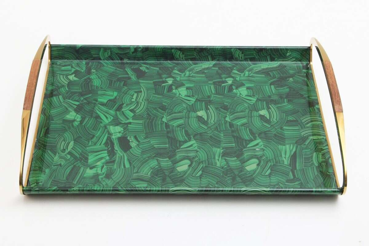 Jules Drinks Tray in Malachite by Forwood Design 6