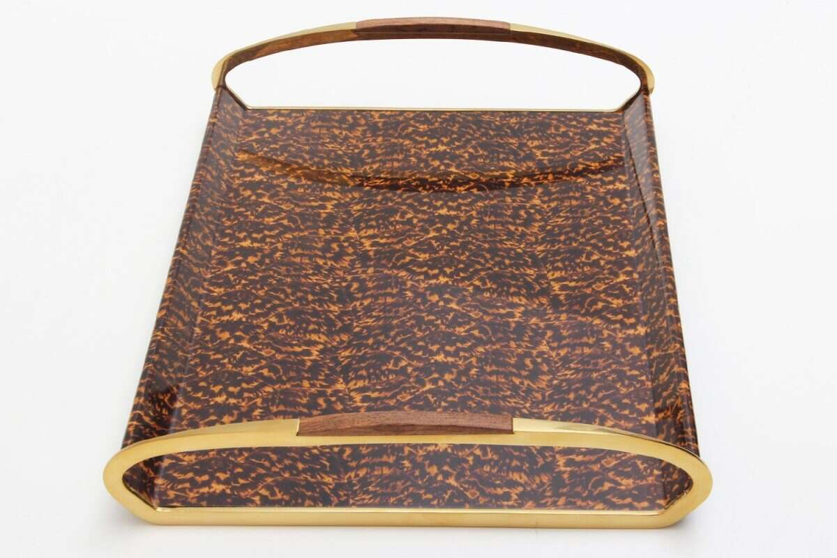 Jules Drinks & Serving Tray in Tortoiseshell by Forwood Design 2