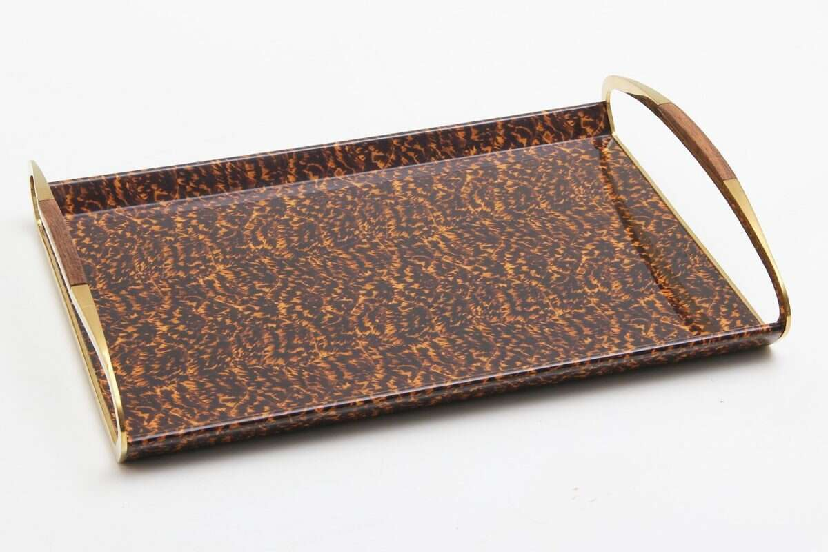 Jules Drinks & Serving Tray in Tortoiseshell by Forwood Design 4
