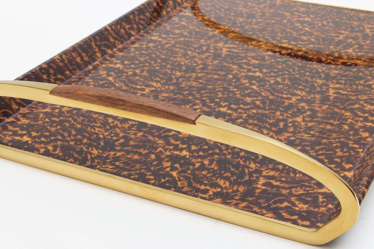 Jules Drinks & Serving Tray in Tortoiseshell by Forwood Design 3