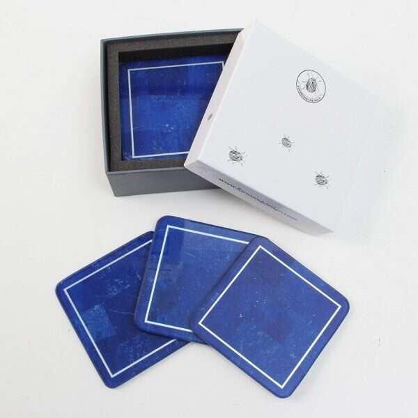 Lapis Lazuli Drinks Coasters by Forwood Design 6