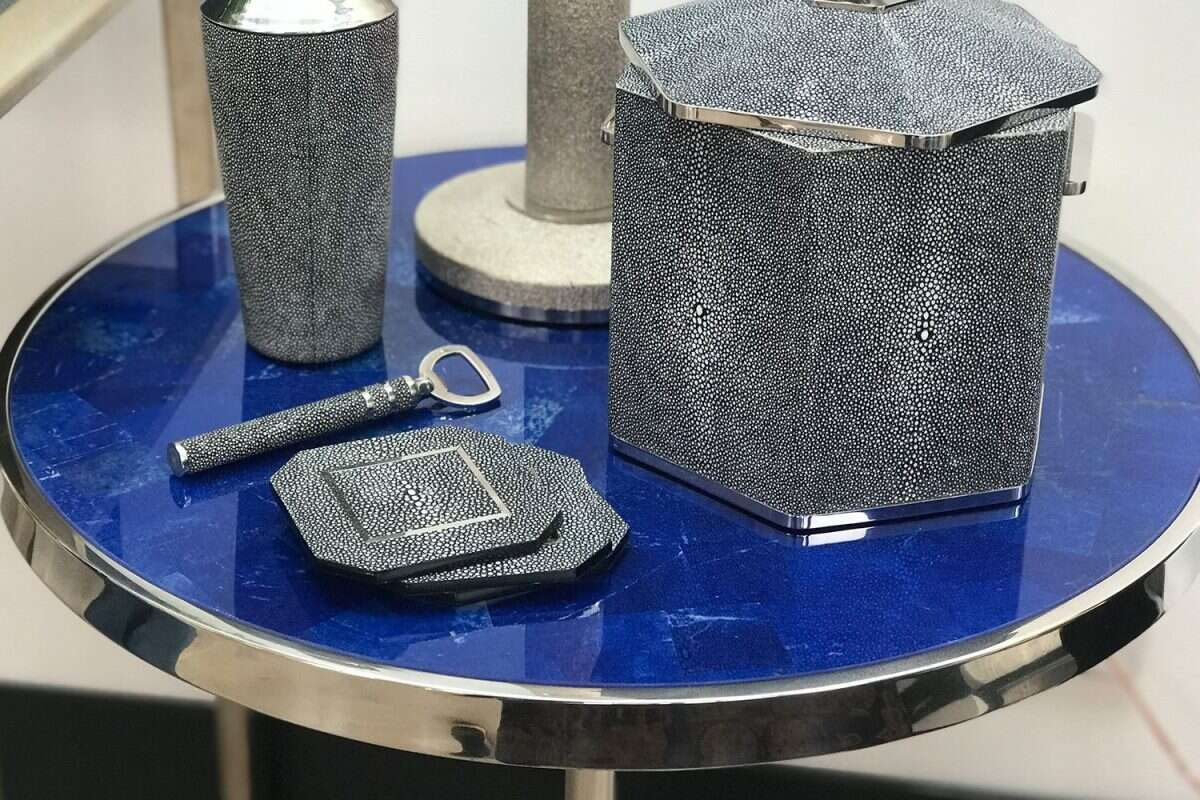 Lapis Lazuli Side Table by Forwood Design 1