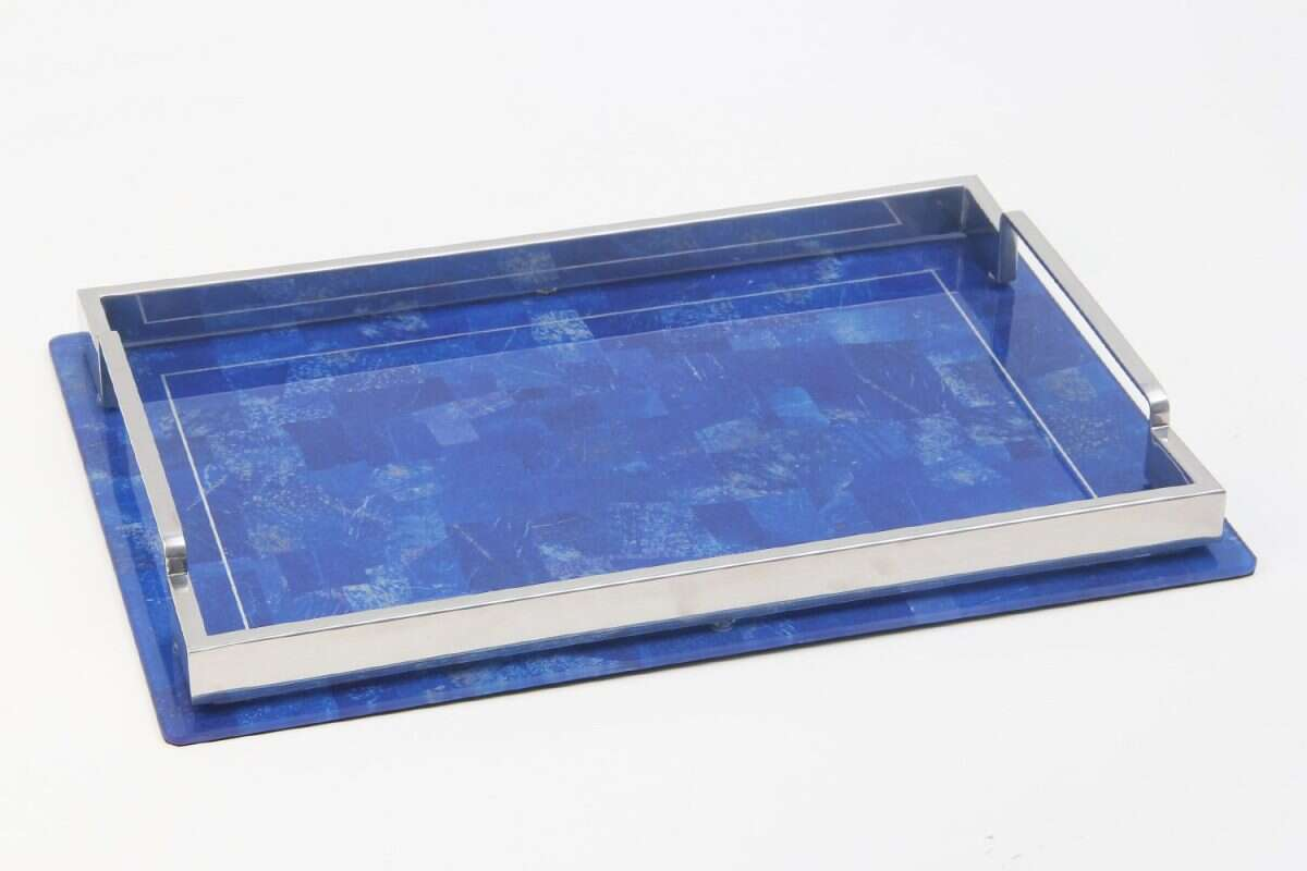 Lapis Lazuli Drinks Tray by Forwood Design 3