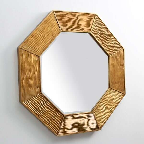 Lennox Wall Mirror in Antique Gold by Forwood Design 5