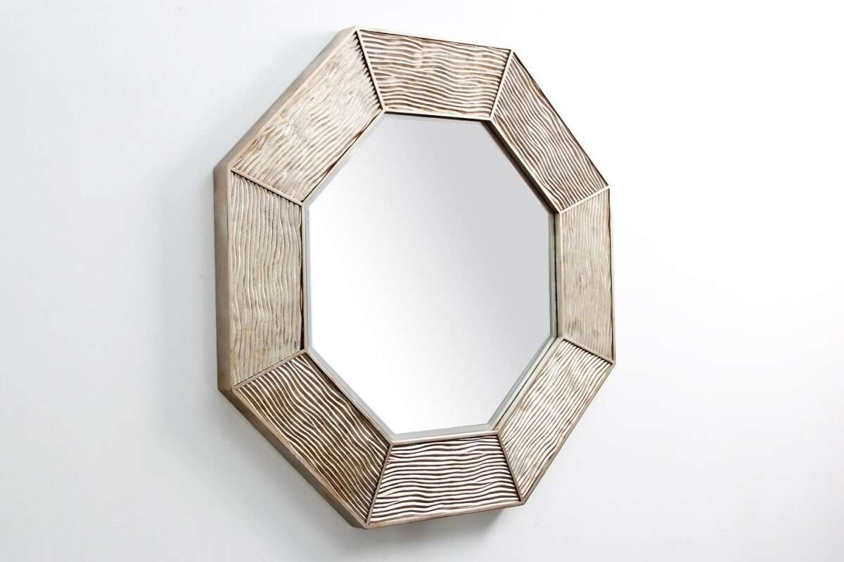 Lennox Wall Mirror in Antique Silver by Forwood Design 3