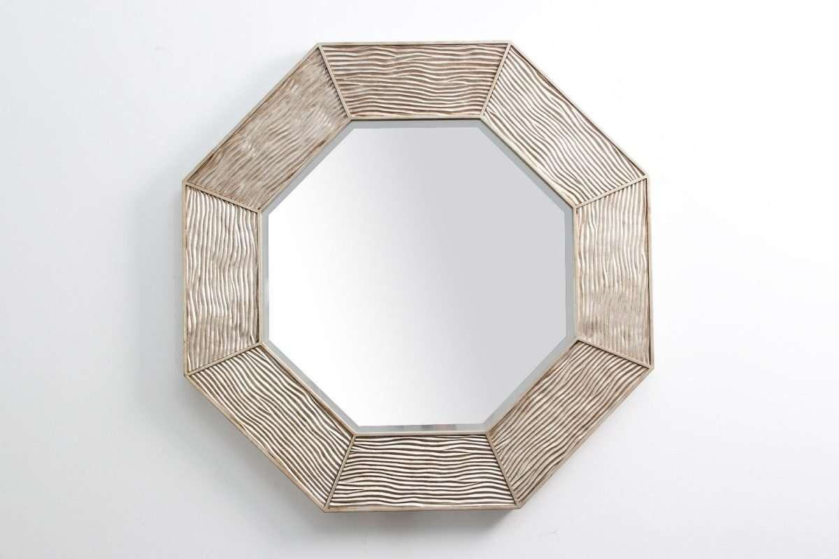 Lennox Wall Mirror in Antique Silver by Forwood Design 1