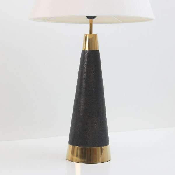 Lexington Table Lamp in Seal Brown Shagreen by Forwood Design 5
