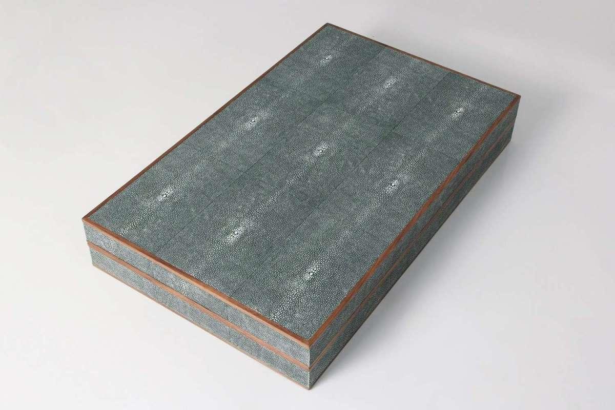 Backgammon Board in Lincoln Green Shagreen 4