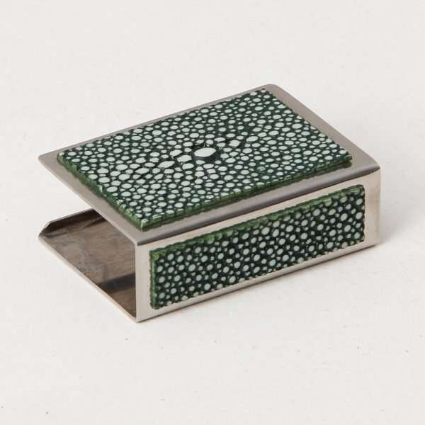 Matchbox Holders in Lincoln Green Shagreen by Forwood Design 5