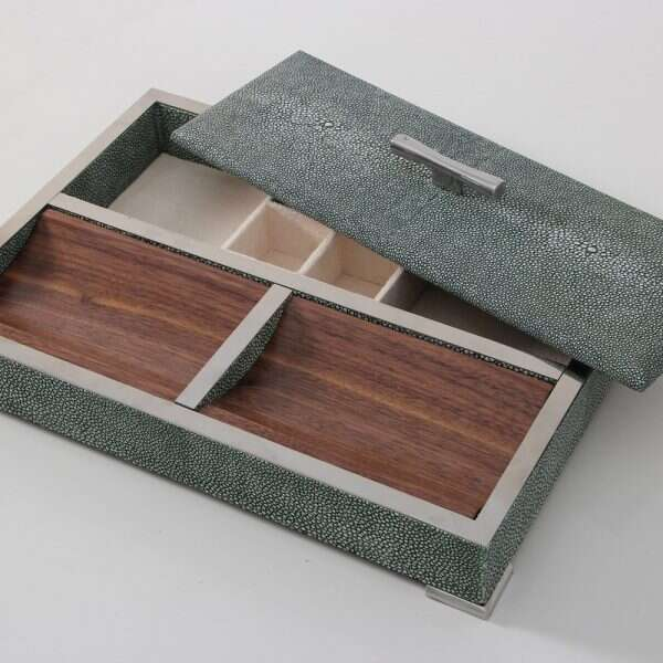 Darcy Valet Tray in Lincoln Green Shagreen 5