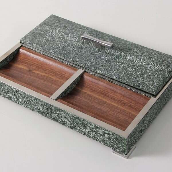 Darcy Valet Tray in Lincoln Green Shagreen 3