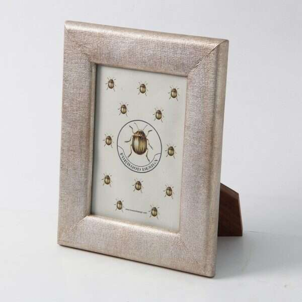 Linen Photo Frame in Antique Silver by Forwood Design 2