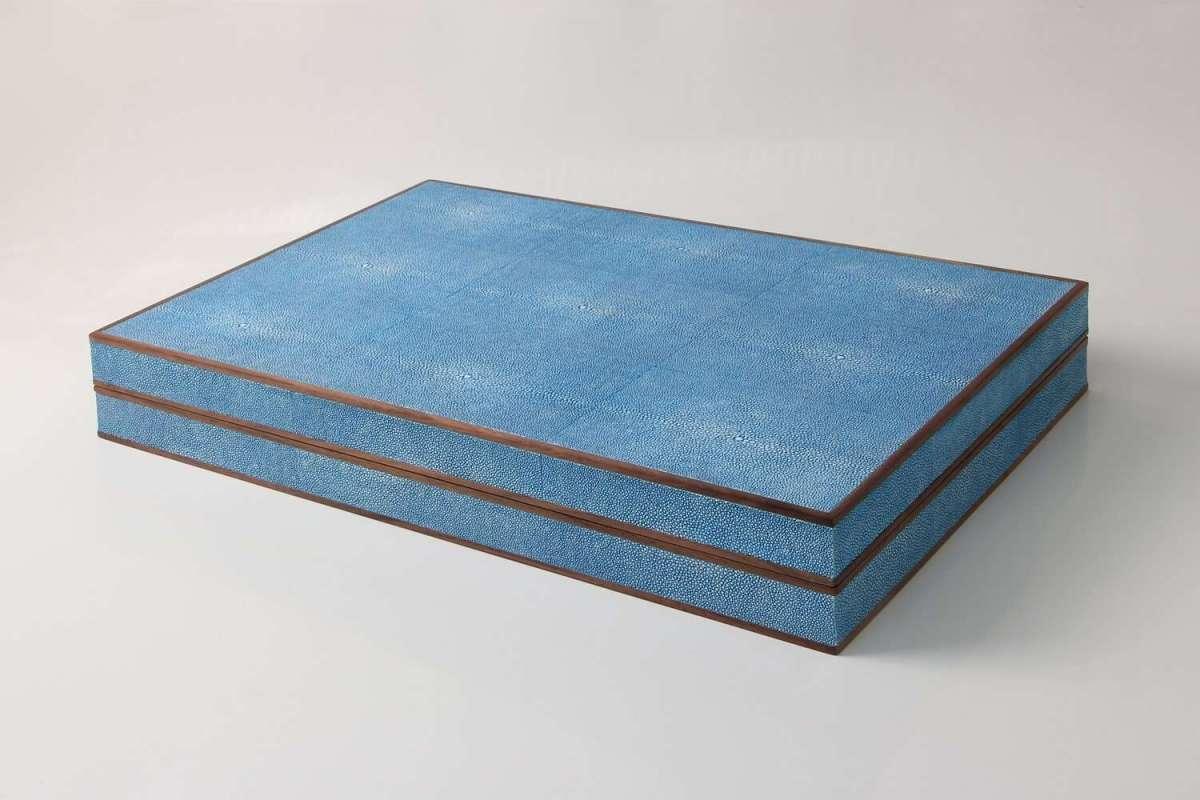 Duke Blue Deluxe backgammon set