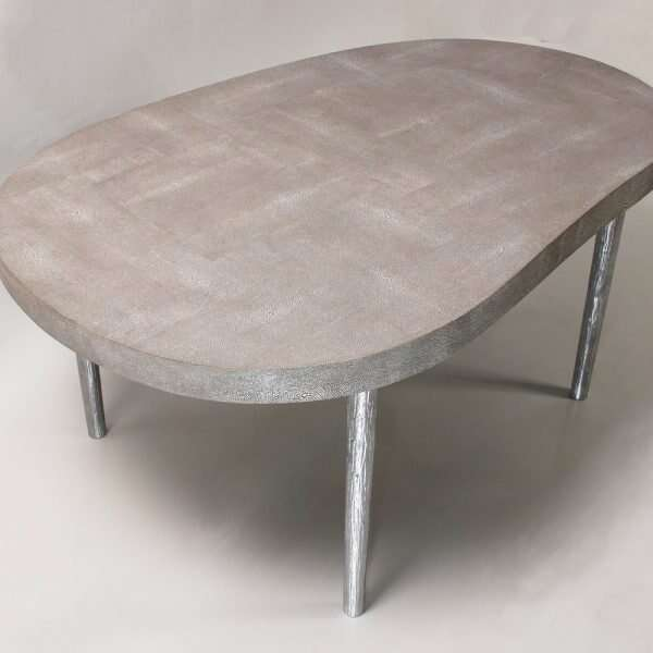 Mango coffee table in barley shagreen by Forwood Design 5