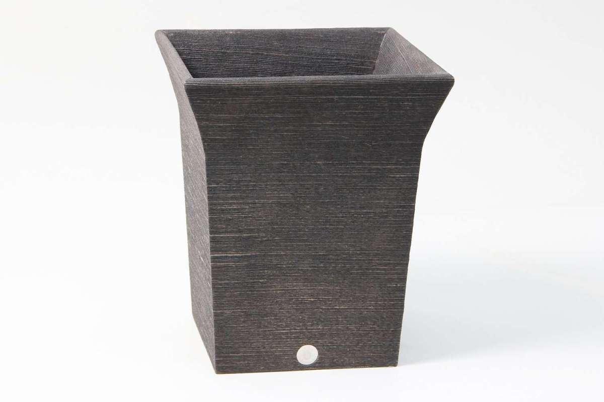 Tarka Waste Bin in Seal Brown Silk by Forwood Design 3