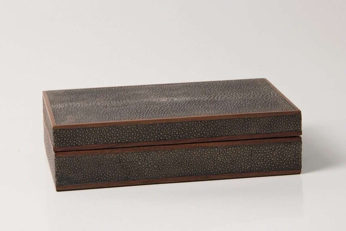 Bridge Set in Seal Brown Shagreen by Forwood Design 2