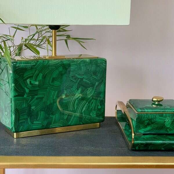 Malachite Table Lamp - Low by Forwood Design 6