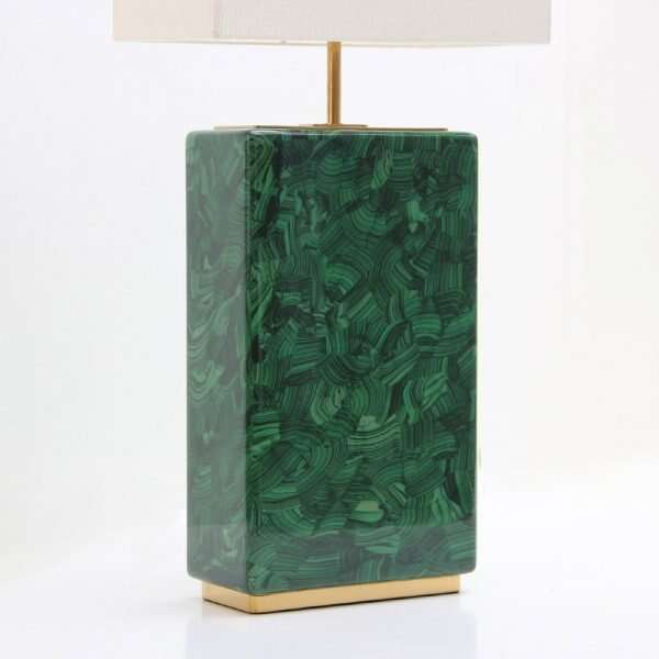 Luxe Malachite Table Lamp by Forwood Design 5