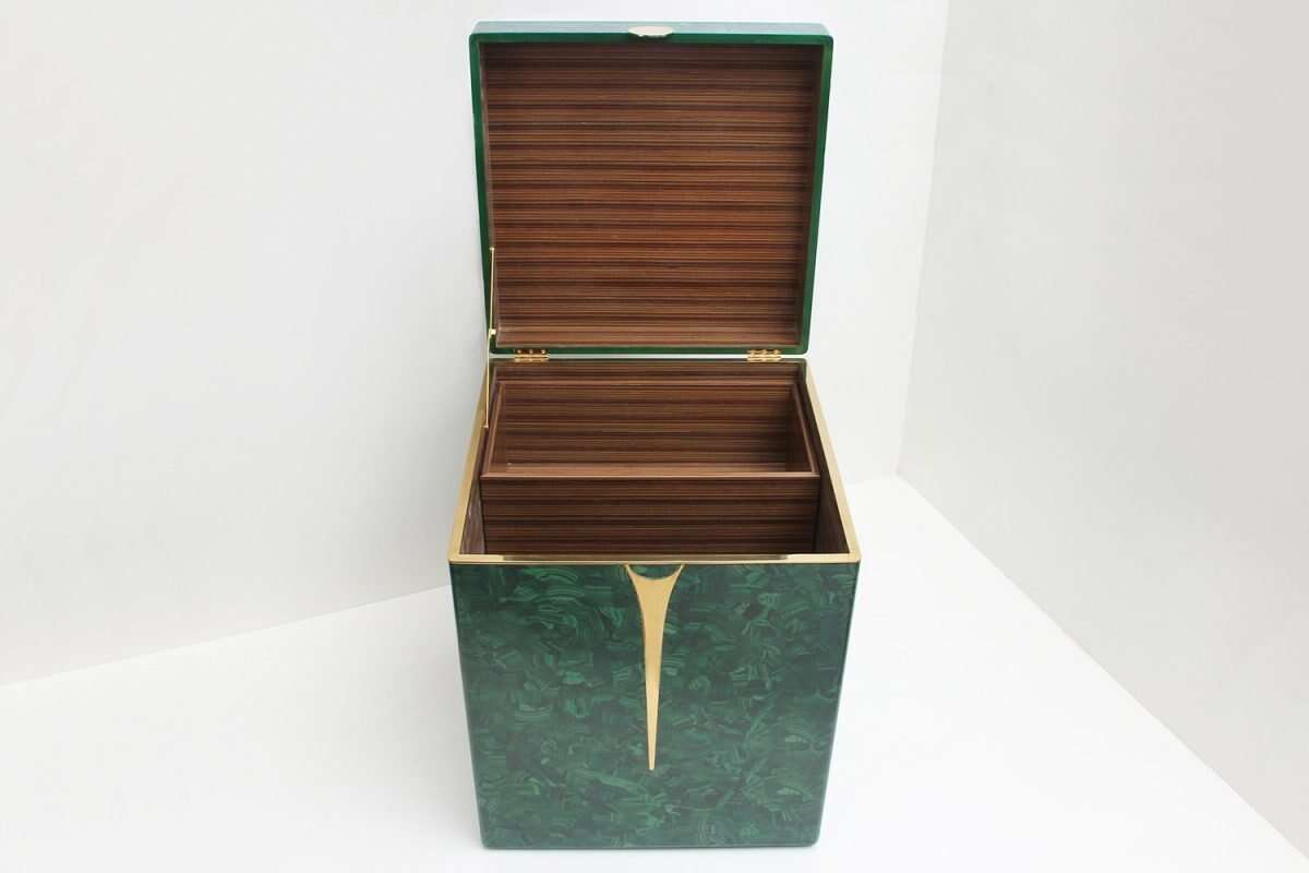Malachite Drinks Chest / Side Table by Forwood Design 5