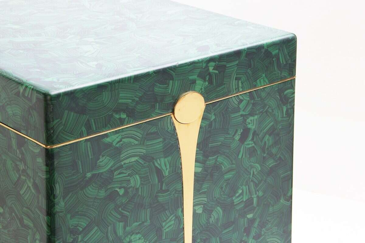 Malachite Drinks Chest / Side Table by Forwood Design 3