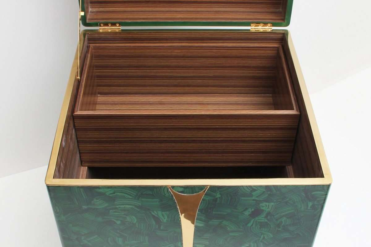 Malachite Drinks Chest / Side Table by Forwood Design 2
